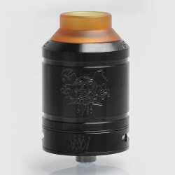 Kindbright Sherman Style RDA Rebuildable Dripping Atomizer - Black, 316 Stainless Steel, 28mm Diameter