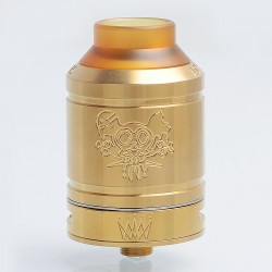 Kindbright Sherman Style RDA Rebuildable Dripping Atomizer - Gold, 316 Stainless Steel, 28mm Diameter