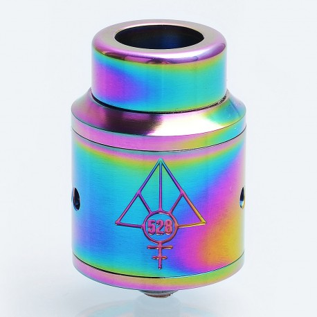 Authentic 528 Custom GOON RDA Rebuildable Dripping Atomizer - Rainbow, Stainless Steel, 24mm Diameter