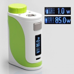 Authentic Eleaf iStick Pico 25 85W TC VW Variable Wattage Mod - White + Green, Stainless Steel, 1~85W, 1 x 18650