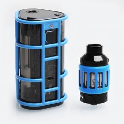 Authentic Wismec ES300 EXO SKELETON 300W TC VW Variable Wattage Mod + KAGE Atomizer Kit - Blue, 1~200W/300W, 2.8ml, 2/3 x 18650