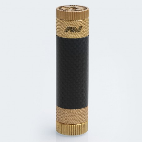AV Able XL Style Hybrid Mechanical Mod - Black, Brass + Carbon Fibre, 1 x 18650, 24mm Diameter