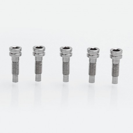 YFTK Replacement Bottom Feeder Pin for Strike 14 / 18 Style RDA Atomizer - Stainless Steel (5 PCS)