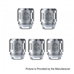 Authentic SMOKTech SMOK TFV8 Baby Tank V8 Baby-T8 Coil Head - Silver, Stainless Steel, 0.15 Ohm, EU Edition (5 PCS)