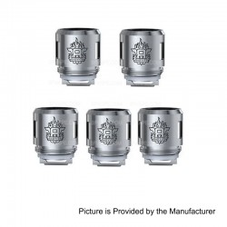 Authentic SMOKTech SMOK TFV8 Baby Tank V8 Baby-T6 Coil Head - Silver, Stainless Steel, 0.2 Ohm, EU Edition (5 PCS)