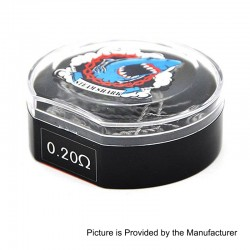 Authentic Vapethink Kanthal A1 Satan V2 Pre-built Coil Heating Wire - (28GA x 4) x 2, 0.2 Ohm (10 PCS)