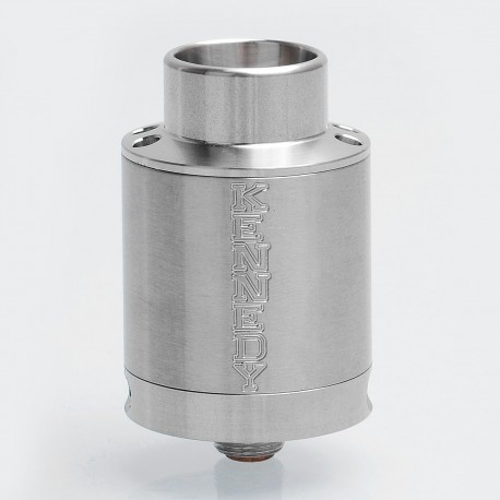 Kennedy V5 Style RDA Rebuildable Dripping Atomizer w/ BF Pin - Silver, Stainless Steel, 24mm Diameter