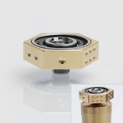 Authentic Iwodevape 510 Vape Spinner Fidget Toy for E-cigarette - Gold, Stainless Steel, 608 Bearing