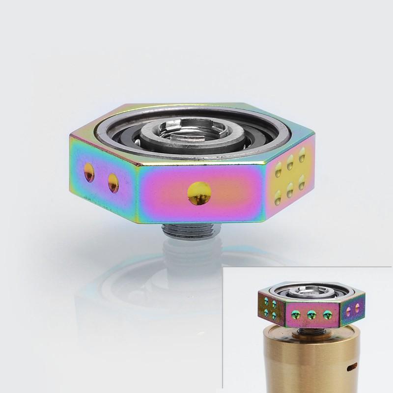 authentic iwodevape rainbow ss 608 bearing 510 vape spinner fidget toy