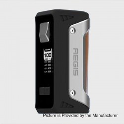Authentic GeekVape AEGIS 100W 4200mAh Water-proof TC VW Variable Wattage Box Mod - Silver + Brown, 1~100W, 1 x 18650 / 26650