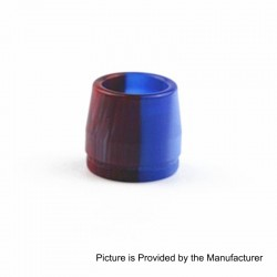 Replacement Drip Tip for Taifun BT Style Tank Atomizer - Red + Blue, Resin, 16mm