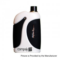 Authentic Sigelei Compak F1 40W 2000mAh All-in-One Mod Kit - White, Zinc Alloy, 24~40W, 2ml