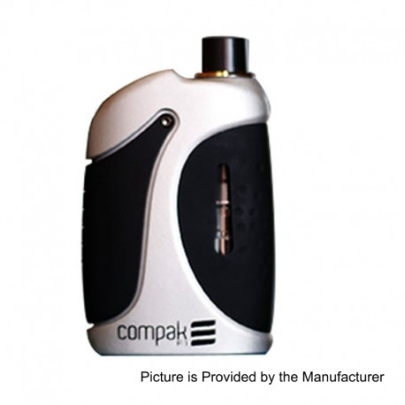 Authentic Sigelei Compak F1 40W 2000mAh All-in-One Mod Kit - Silver, Zinc Alloy, 24~40W, 2ml