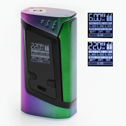 Authentic SMOKTech SMOK Alien 220W TC VW Variable Wattage Box Mod - Rainbow, Zinc Alloy, 6~220W, 2 x 18650