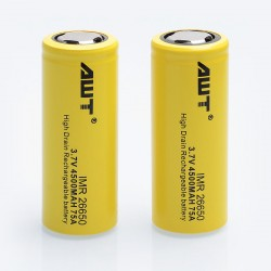 Authentic Aweite AWT 26650 4500mAh 3.7V 75A High Drain Rechargeable Battery - 2 PCS