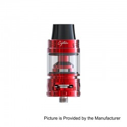 Authentic IJOY Captain S Sub Ohm Tank Atomizer - Red, Stainless Steel, 4ml, 25mm Diameter