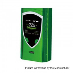 Authentic SMOKTech SMOK Procolor 225W TC VW Variable Wattage Box Mod - Green, 6~225W, 2 x 18650