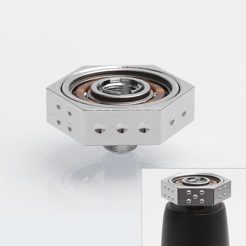 authentic iwodevape silver ss 608 bearing 510 vape spinner fidget toy