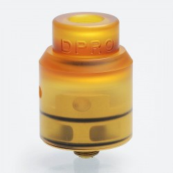 Authentic CoilART DPRO RDA Rebuildable Dripping Atomizer w/ BF Pin - Brown, Ultem + Stainless Steel, 24mm Diameter