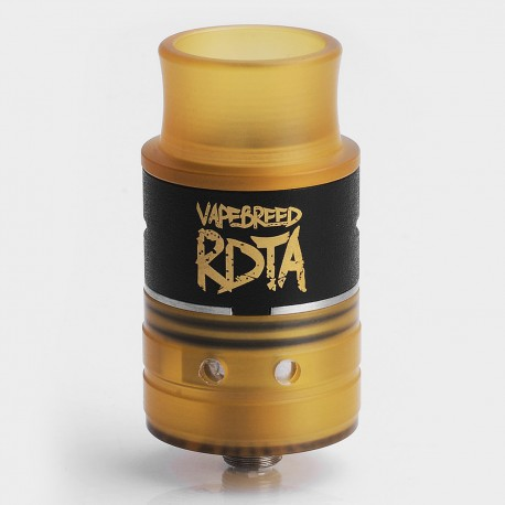 Vapebreed Style RDTA Rebuildable Dripping Tank Atomizer - Black, Stainless Steel + PEI, 24mm Diameter
