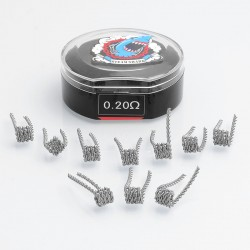 Authentic Vapethink Kanthal A1 Satan V6 Pre-built Coil Heating Wire - (32GA x 26GA) x 2, 0.2 Ohm (10 PCS)