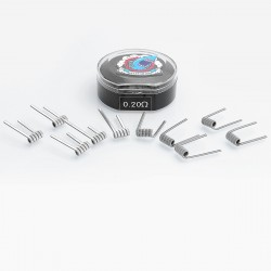 Authentic Vapethink Kanthal A1 Panzer V3 Pre-built Coil Heating Wire - 24GA x 3 + 32GA, 0.2 Ohm (10 PCS)