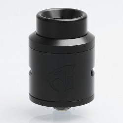 SXK Goon 1.5 Style RDA Rebuildable Dripping Atomizer w/ BF Pin - Black, 316 Stainless Steel, 24mm Diameter