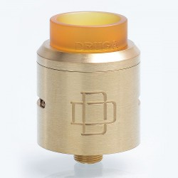 Authentic Augvape Druga RDA Rebuildable Dripping Atomizer w/ BF Pin - Brass, Brass, 24mm Diameter