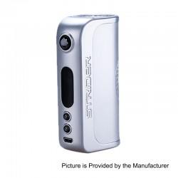 Authentic Asvape Strider 75W TC VW Variable Wattage Box Mod - Ice Silver, 5~75W, 1 x 18650 / 26650, VO 75 Chip