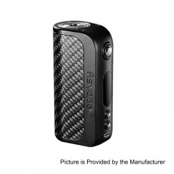 Authentic Asvape Strider 75W TC VW Variable Wattage Box Mod - Black, 5~75W, 1 x 18650 / 26650, VO 75 Chip