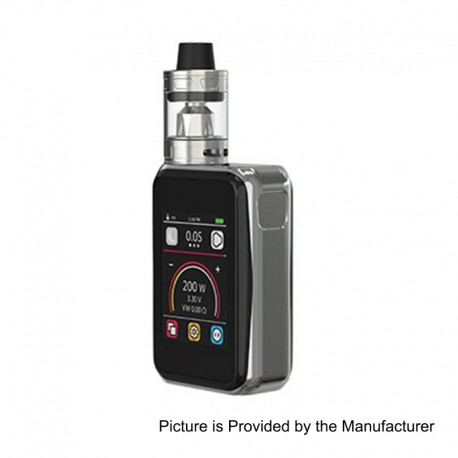Authentic Joyetech Cuboid Pro 200W TC VW Varible Wattage Box Mod + ProCore Aries Tank Kit - Silver, 1~200W, 2 x 18650, 4ml, 25mm