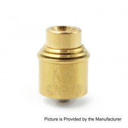 Apocalypse Mechlyfe Style RDA Rebuildable Dripping Atomizer w/ BF Pin - Gold, Stainless Steel, 24mm Diameter