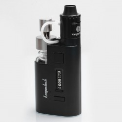 Authentic Kanger DRIPEZ 80W TC VW Variable Wattage Mod Kit w/ E-juice Bump - Black, Zinc Alloy, 5~80W, 1 x 18650