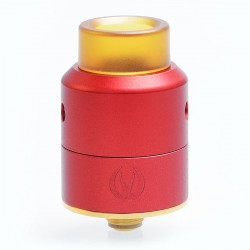 Authentic Vandy Vape Pulse 22 BF RDA Rebuildable Dripping Atomizer - Red, Stainless Steel, 22mm Diameter