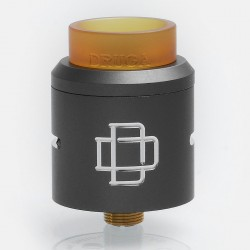 Authentic Augvape Druga RDA Rebuildable Dripping Atomizer w/ BF Pin - Grey, Stainless Steel, 24mm Diameter