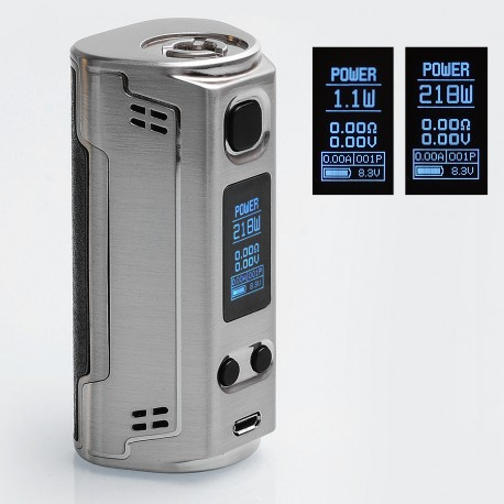 Authentic SOOMOOK FF91 200W TC VW Variable Wattage Box Mod - Silver, 15~200W, 2 x 18650