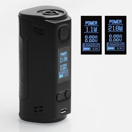 Authentic SOOMOOK FF91 200W TC VW Variable Wattage Box Mod - Black, 15~200W, 2 x 18650