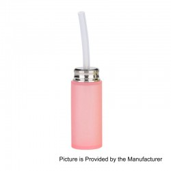 Authentic Arctic Dolphin Super Soft Bottom Feeder Squonk Bottle - Pink, Silicone, 7ml