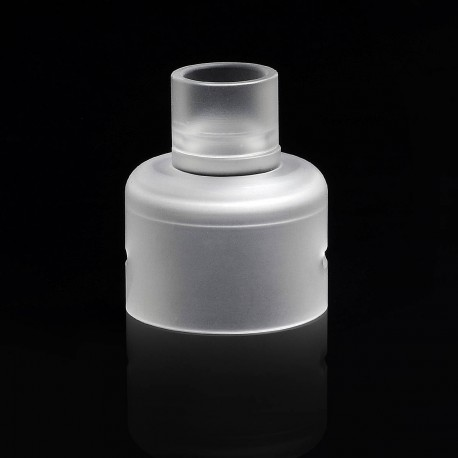YFTK Replacement Sleeve + 510 Drip Tip for Soul S Style RDA - White, PEI