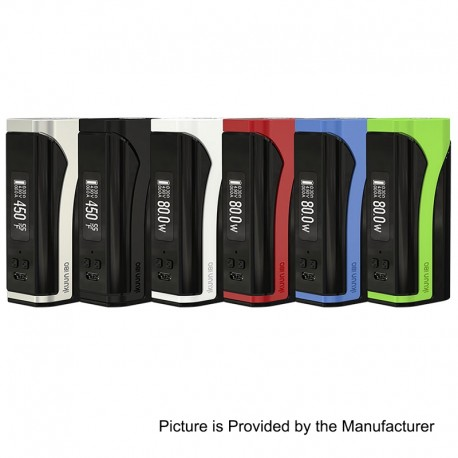 Authentic Eleaf iKuu i80 80W 3000mAh TC VW Variable Wattage Box Mod - Black, 1~80W, 100~315'C / 200~600'F