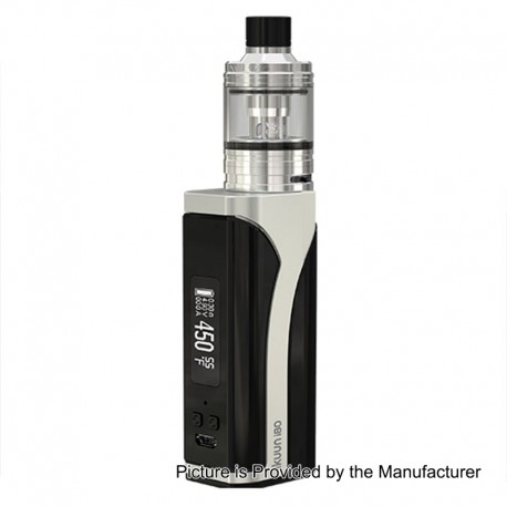Authentic Eleaf iKuu i80 80W 3000mAh TC VW Variable Wattage Box Mod + MELO 4 Tank Kit - Silver, 1~80W, 2ml, 22mm Diameter