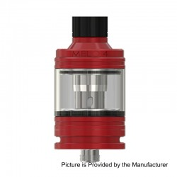 Authentic Eleaf MELO 4 Sub Ohm Tank Atomizer - Red, Stainless Steel, 2ml, 22mm Diameter