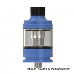 Authentic Eleaf MELO 4 Sub Ohm Tank Atomizer - Blue, Stainless Steel, 2ml, 22mm Diameter