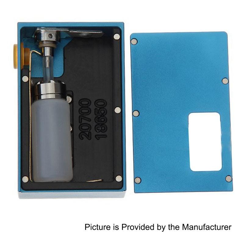 Authentic Steel Vape Phoenix Blue Aluminum 6.8ml BF Squonk Mech Mod