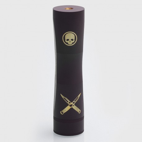 Cutthroat Edition Consvr Style Mechanical Mod - Grey, Brass, 1 x 18650