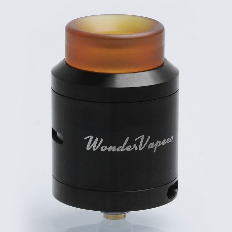 Authentic IJOY Wondervape RDA Rebuildable Dripping Atomizer - Black, Stainless Steel, 24mm Diameter