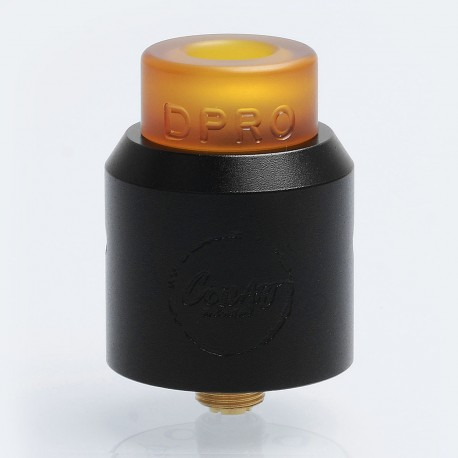 Authentic CoilART DPRO RDA Rebuildable Dripping Atomizer w/ BF Pin - Black, Stainless Steel, 24mm Diameter