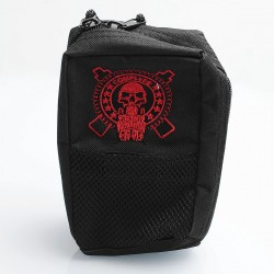 Battle Style Multi-functional Carrying Storage Bag for E-cigarette - Black, Canvas, 180 x 110 x 60mm