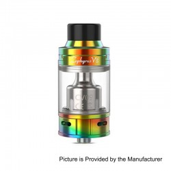 Authentic YouDe UD Zephyrus V3 Sub Ohm Tank Atomizer - Rainbow, Stainless Steel, 5ml, 25mm Diameter
