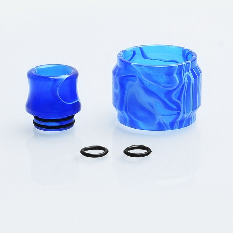 Replacement Tank Sleeve + Drip Tip Kit for SMOK TFV8 Big Baby Tank - Dark Blue, Resin